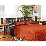 Signature Design by Ashley Alliston DuraBlend Sleeper Sofa, Queen, Chocolate