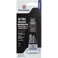 Permatex 85080-6PK Ultra, color negro máxima resistencia al aceite silicona RTV eléctrica, 9,5onzas.powerbead (paquete de 6), 0.5 oz, Paquete de 1