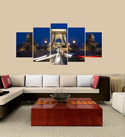 Red Boat in Paris Canvas Art Print for Wall Decor Painting