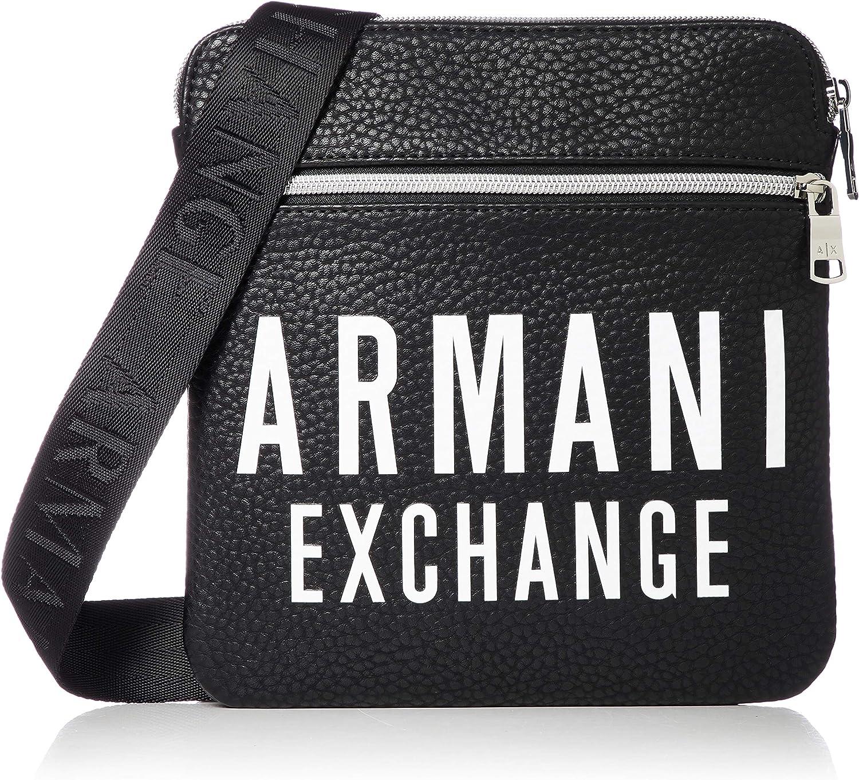 Armani Exchange 952108-9A024-00022 Bolso pequeño/Cartera de mano hommes Negro Bolso pequeño/Cartera