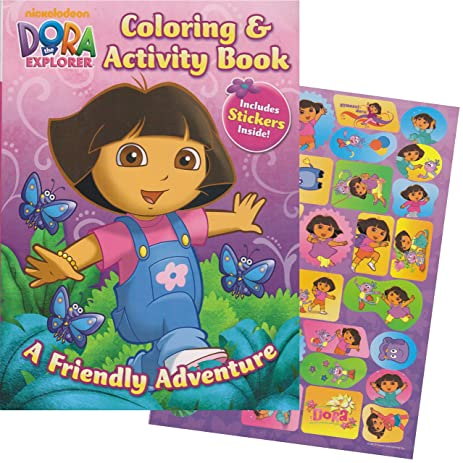 dora the explorer giant coloring book with stickers 144 pages - Giant Coloring Books