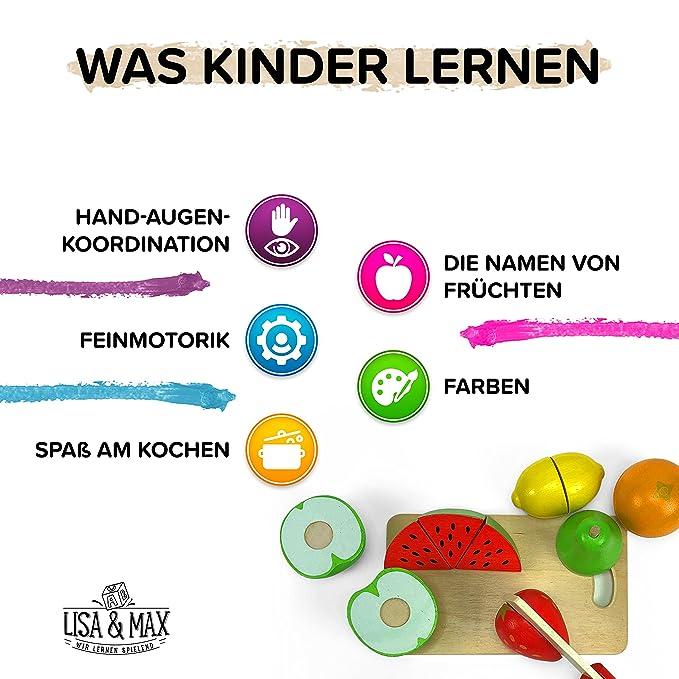 Holzobst zum Schneiden mit Klett-Verbindung - Hochwertiges Obst ...