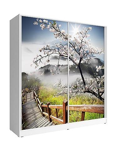 Kleiderschrank modern kinder  Amazon.de: Decor Foto Grafik Print 2 Türen Schiebetür Kleiderschrank ...
