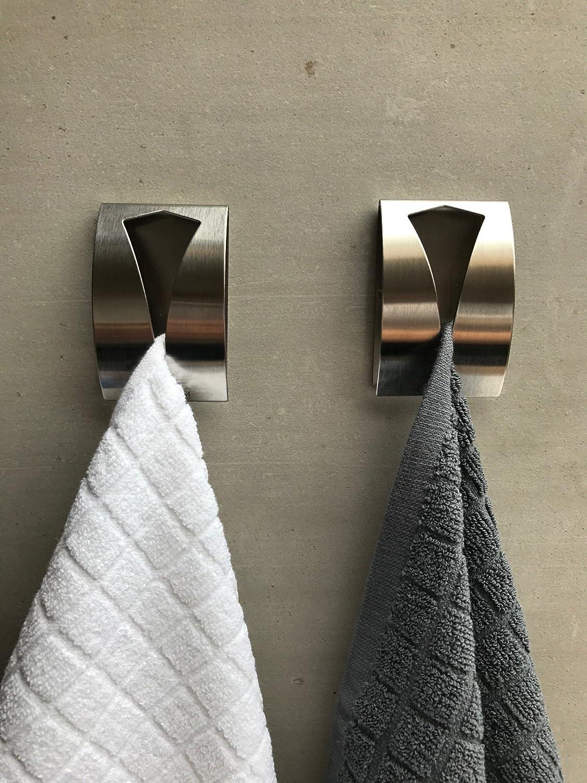 be fancy! 2 Premium Bad Haken aus Edelstahl - Handtuchhalter für Bad ...