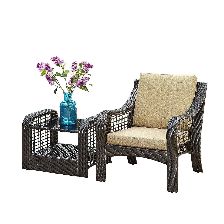 Home styles Lanai Breeze 2 piezas Accent silla y final Cuadro: Amazon.es: Jardín