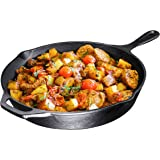 Pre-Seasoned Cast Iron Skillet, 12 inch, By Bruntmor - Use To Fry, Sear, Saute, Bake, And More - Indoor/Outdoor Use