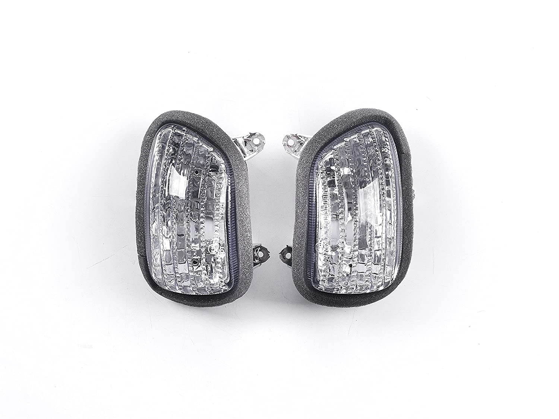 Topzone Lighting trasparente lente moto indicatori direzione per Honda 2001-2010 Gl1800 Goldwing