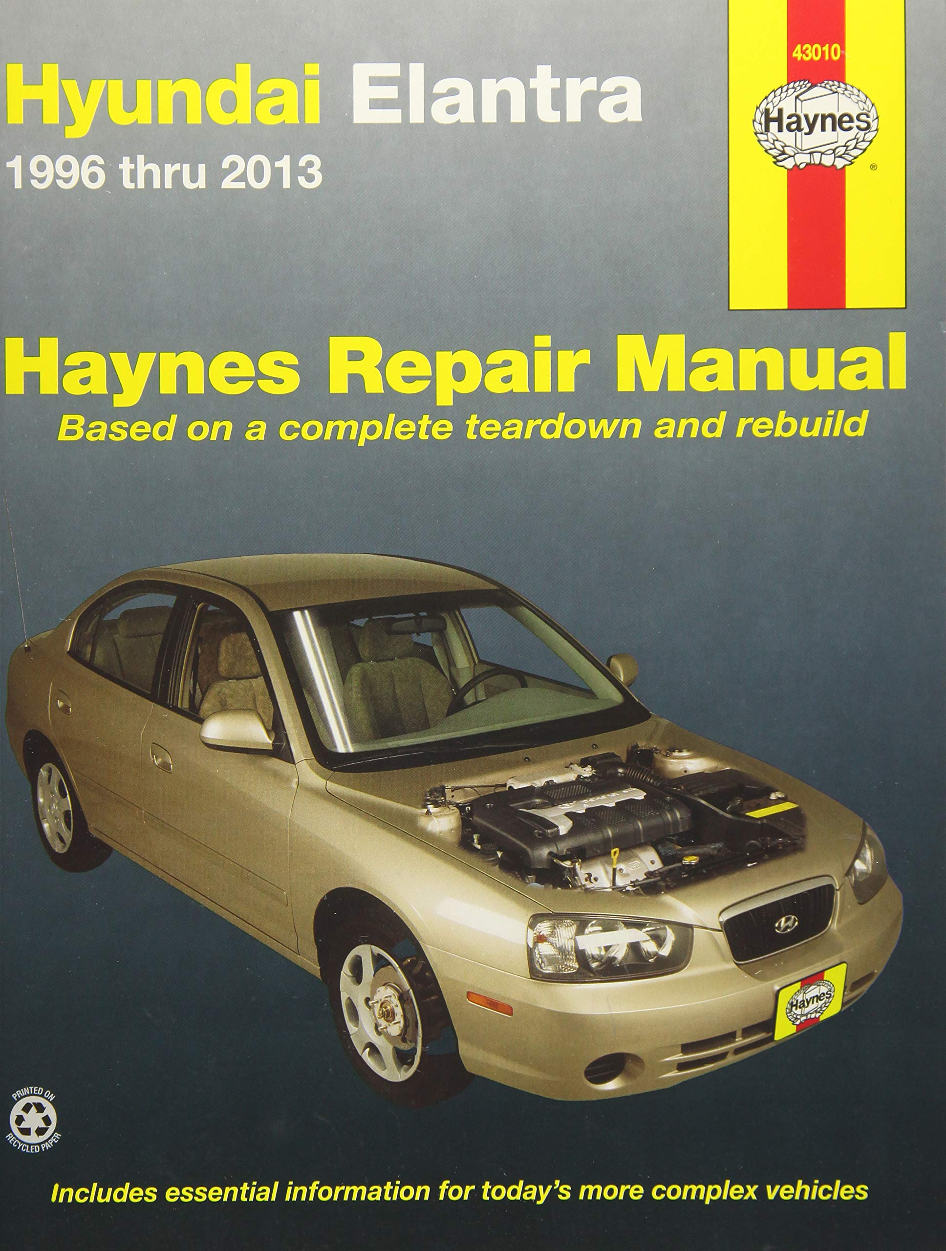 Hyundai Elantra 1996 thru 2013 (Haynes Repair Manual): Editors of Haynes  Manuals: 9781620921081: Amazon.com: Books