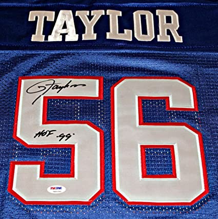 e31c7772f LAWRENCE TAYLOR Signed quot HOF 99 quot  New York Giants Jersey Autograph  Size 50  Lg