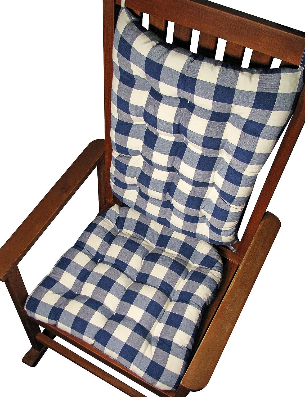 Beau Amazon.com : Rocking Chair Cushions   Vignette Blue White Plaid Buffalo  Checks   Seat Cushions And Back Rest   Reversible, Latex Foam Fill   Made  In USA ...