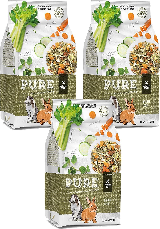 Witte Molen Pure Rabbit Food Seed Mixture Carrot, Celery, Timothy Hay and Varied Gourmet Muesli Dry Food, 4.4 lbs, (Mini Rex, Lionhead Rabbit, English Lop, Dutch Rabbit)