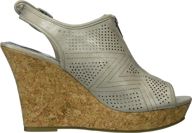 FREE SHIPPING Rampage Women/'s Chamomile Zip Cork Wedge Sandal