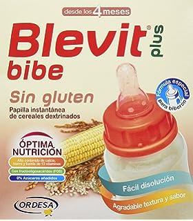 Blevit Plus Bibe Sin Gluten Cereales - Paquete de 2 x 300 gr - Total: