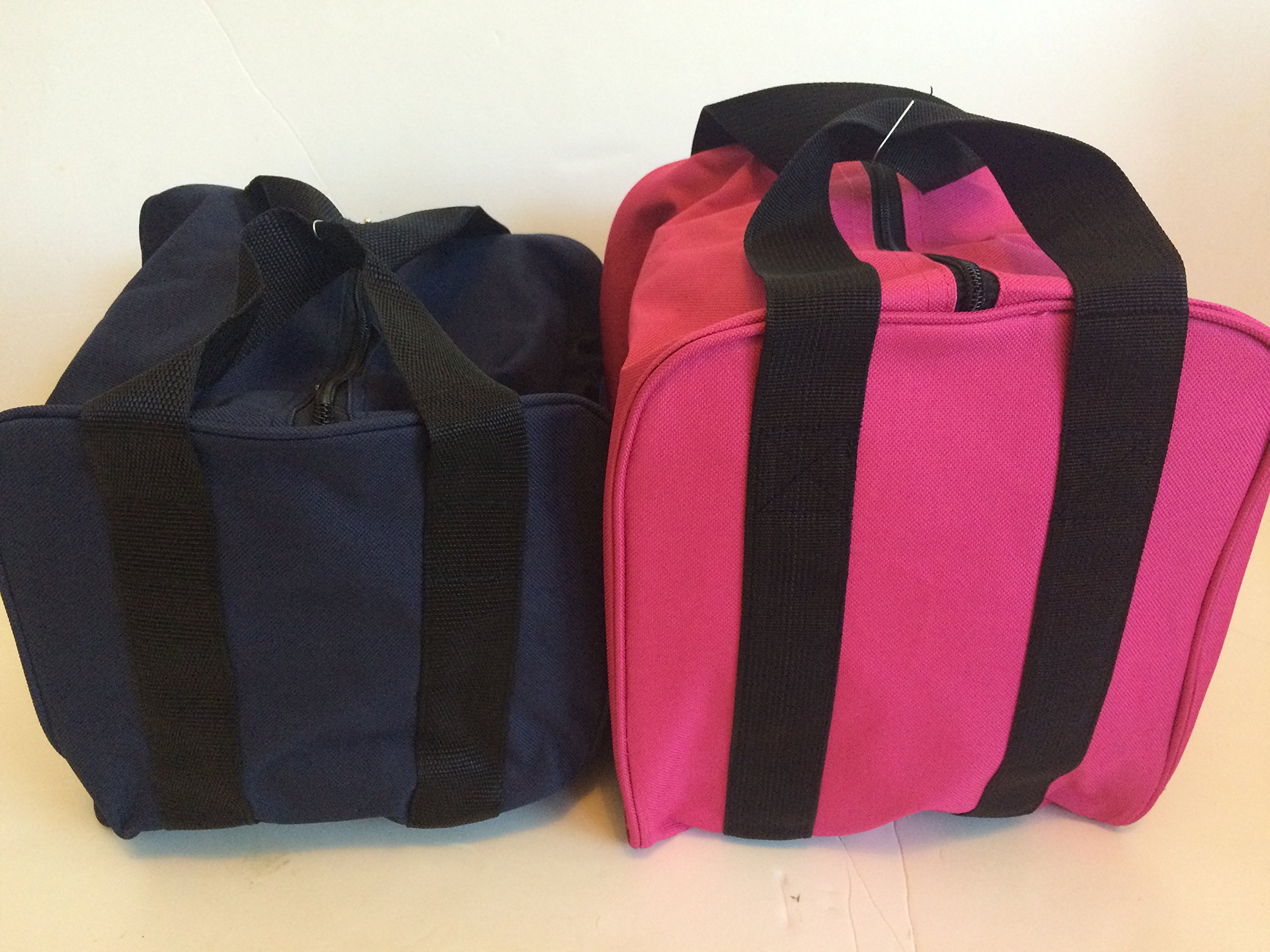 Unique Package - Pack of 2 Extra Heavy Duty Nylon Bocce Bags - Blue with Black Handles and Pink with Black Handles