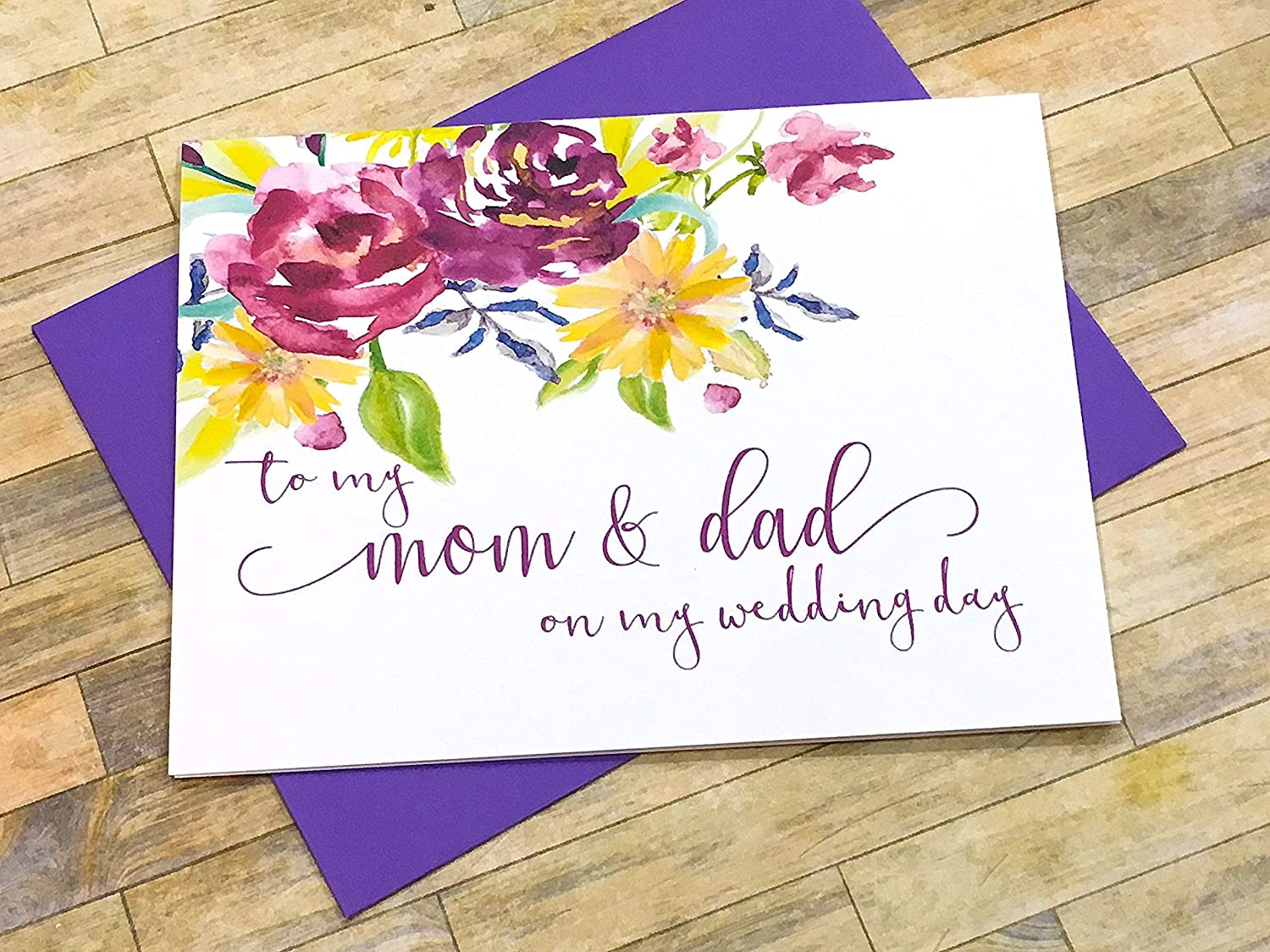 To My Mom And Dad On My Wedding Day Card Wedding Day Cards.