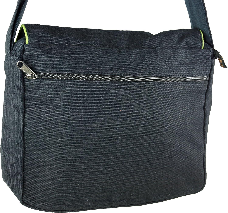 Bolsas de Hombro Negro//azul Adultos Algod/ón Bolso Goa Bolso Hippie GURU-SHOP Bolso de Hombro 22x28x6 cm Unisex Bolso de Hombro Bolso de Mano