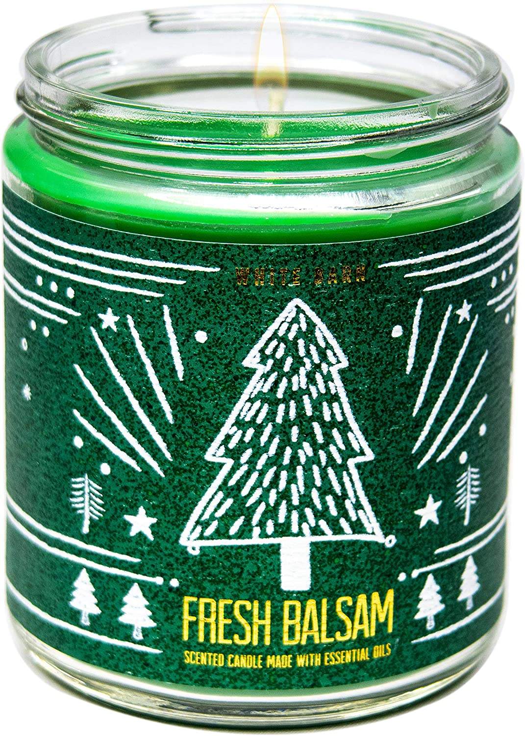 White Barn Bath and Body Works, 1-Wick Candle w/Essential Oils - 7 oz - 2020 Holidays Scents! (Fresh Balsam)