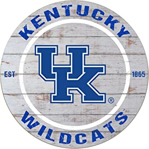 "KH Sports Fan 20""x20"" Kentucky Wildcats Classic Weathered Circle Sign"