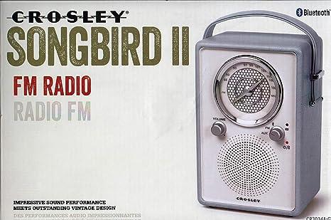 Amazon com: Crosley Songbird II FM Radio Bluetooth CR3034A AUX Input