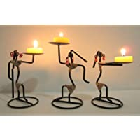 Nexplora Industries Decorative Tealight Candle Holder Set of 3
