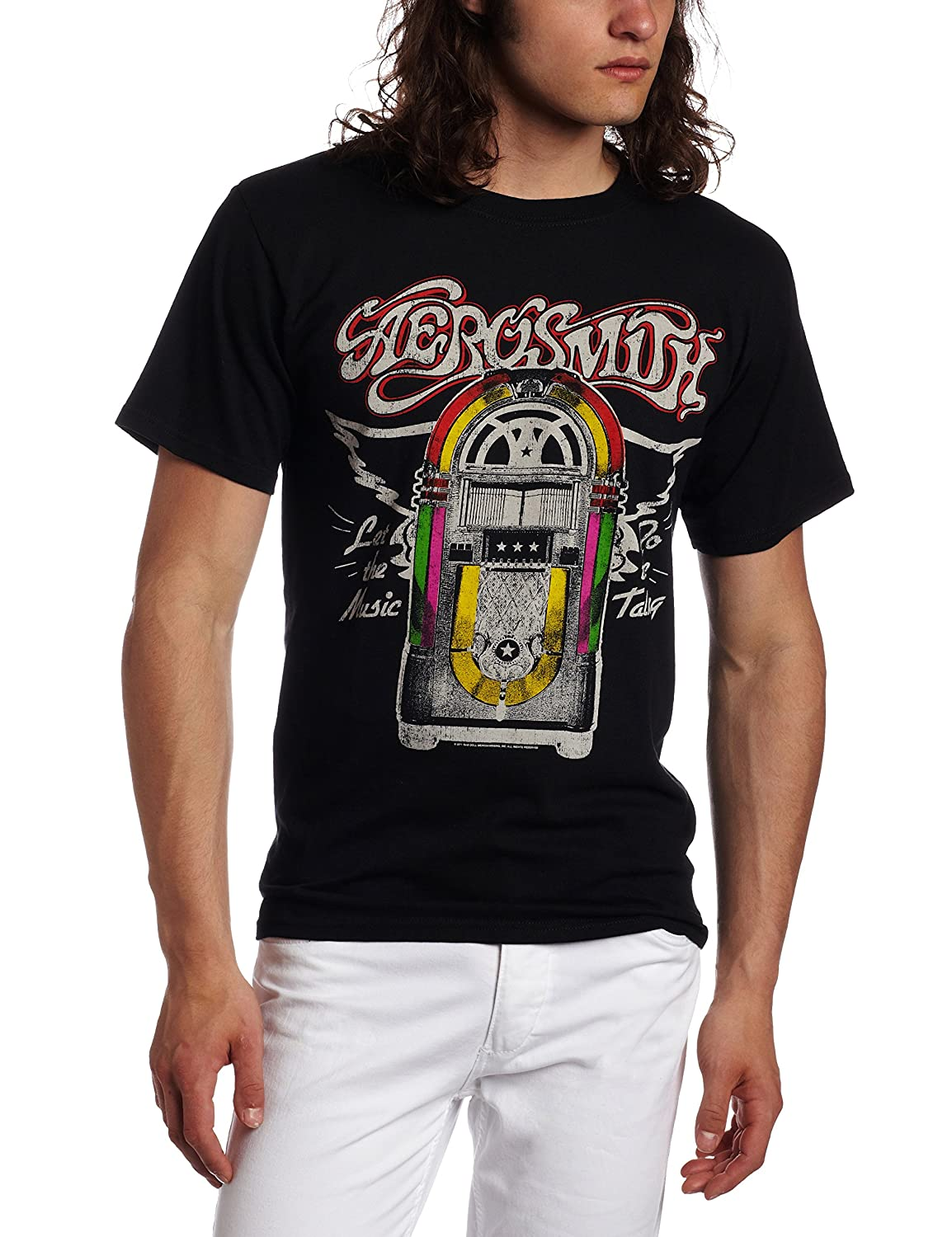 FEA Merchandising Men's Aerosmith Let The Music Jukebox T-Shirt FEA Mechandise Inc AH127