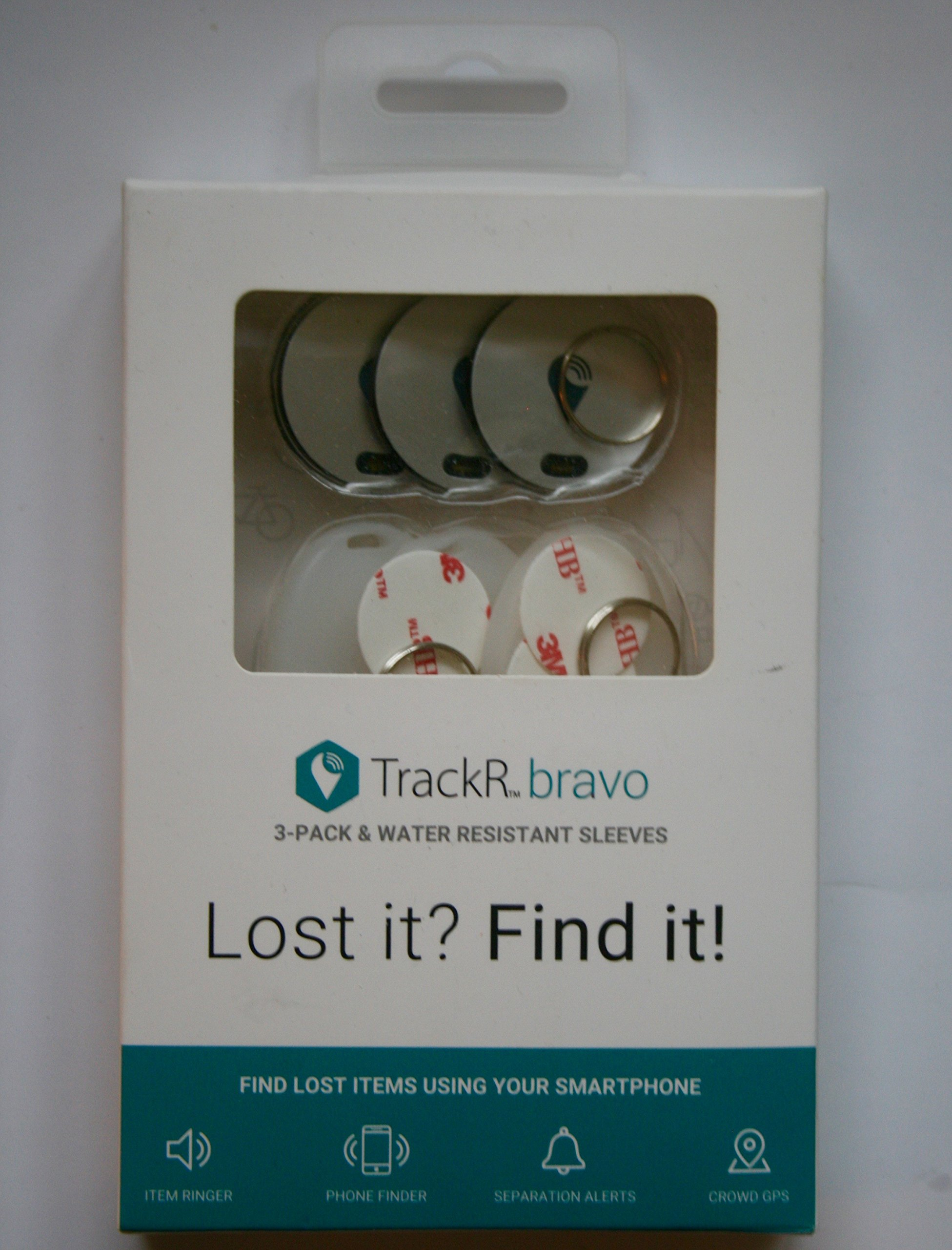 TrackR bravo Bluetooth Tracking 3 pack by TrackR