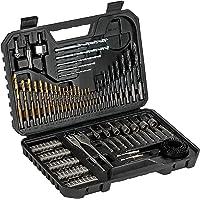 Bosch 103 tlg. borr- och bit set V-Line Titanium Box (trä, sten och metall, tillbehör borr- och skruvverktyg)