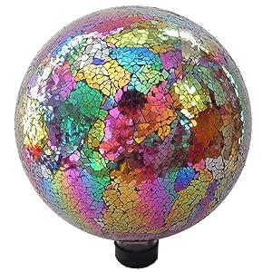 "Gardener Select 16BFG05 Mosaic Red Purple Globe, 10"""