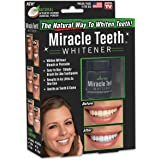 ONTEL Miracle Teeth Whitener   Natural Whitening Coconut Charcoal Powder   Gentle on Teeth and Gums and Removes Stains Caused by Smoking, Coffee, Soda, Red Wine and More! – As Seen on TV