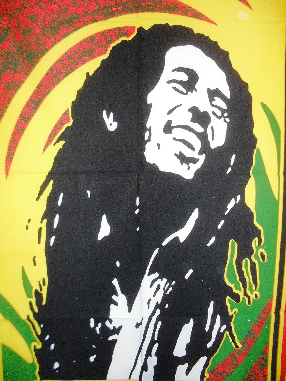 hippie D/écoration murale indien l/égendaire Bob Marley Poster mural Tapisserie Boho D/écoration de Dortoir boh/ème D/écoration murale /à suspendre