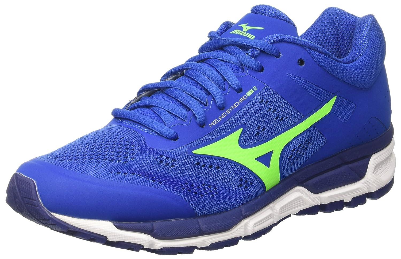 Mizuno Herren Synchro MX Joggingschuhe, Gelb  44.5 EU|Multicolore (Nauticalblue/Greengecko/Bluedepths)