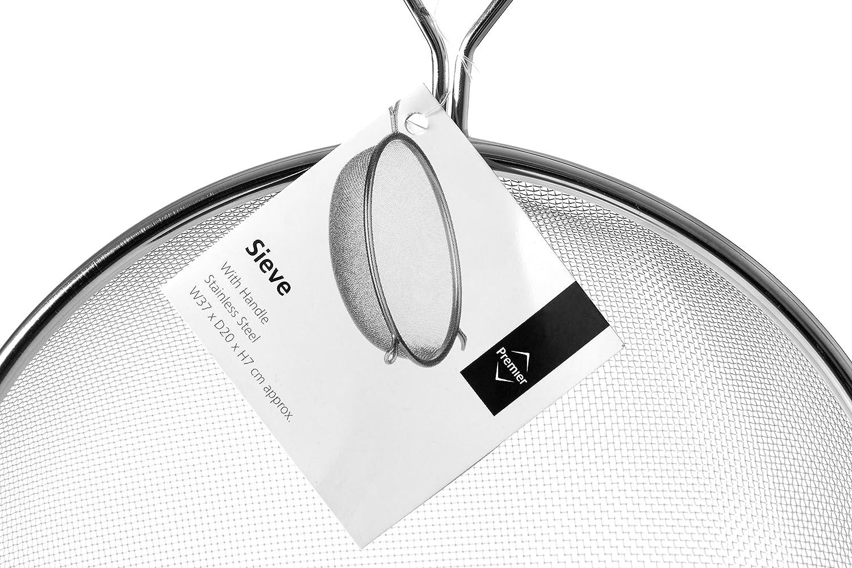 20 cm Premier Housewares Colador de acero inoxidable