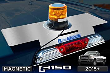 100W Halogen Larson Electronics 0321OXBAXRA 2013 Ford Expedition El-Lh Inside Post Mount Spotlight 6 Inch Driver Side with Install Kit -Chrome