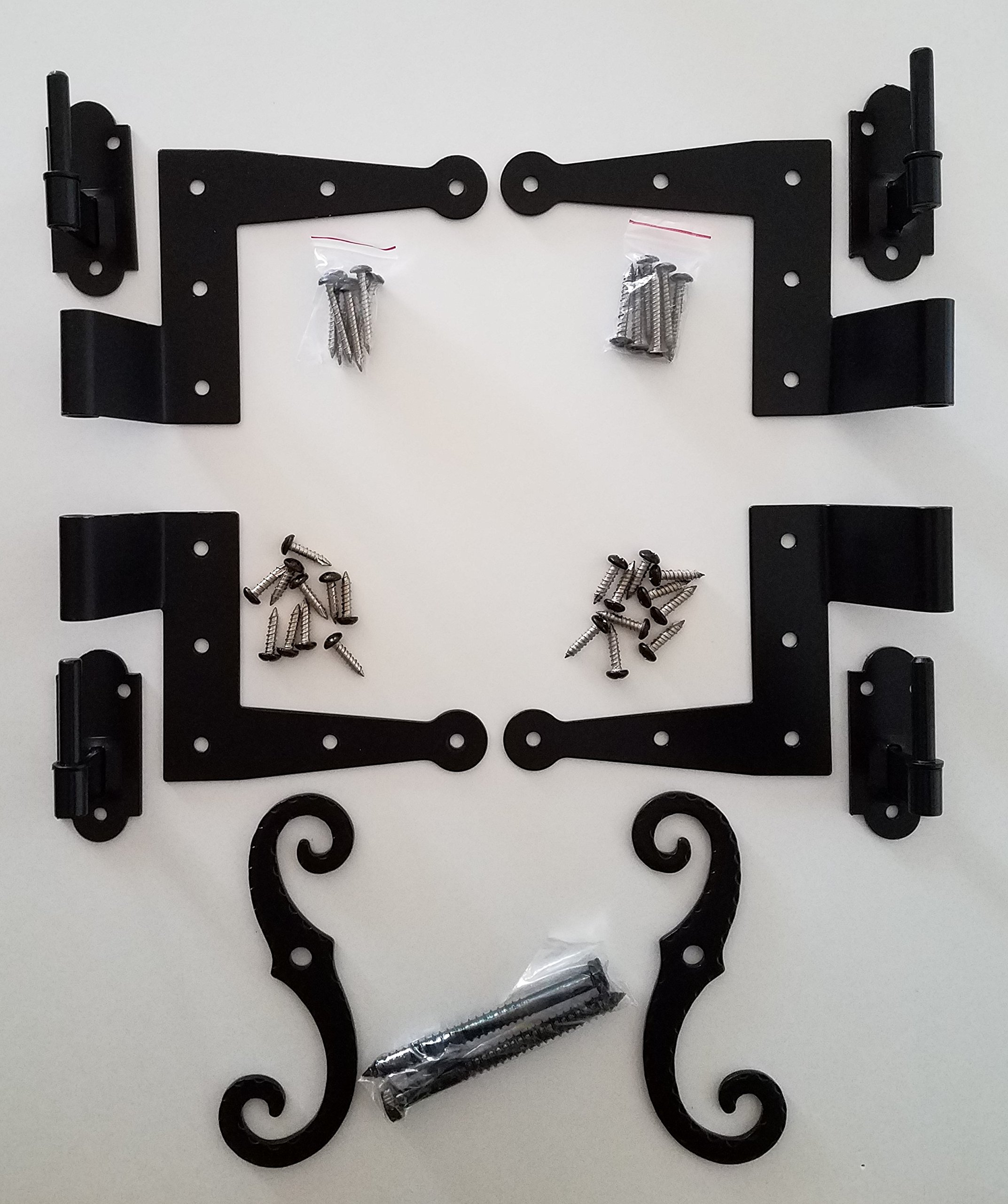 Stainless Steel Colonial Shutter Hardware (1/2'' Offset) Complete Window Kit