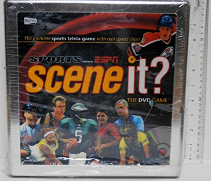 Amazon Com Scene It Sports Powered By Espn Dvd Game Tin Toys Games