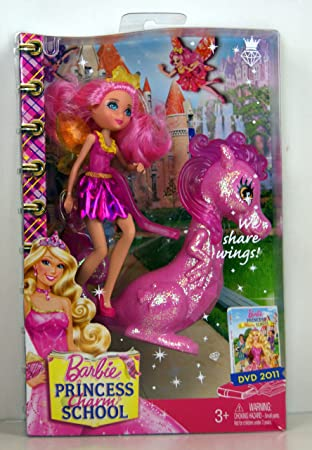 Barbie   Princess Charm School   Princess Assistant Doll   Pink Fairy  Assistant U0026 Dragon