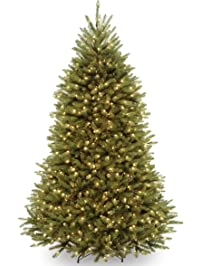 national tree 75 foot dunhill fir tree with 700 dual led lights and 9 function footswitch - Amazon Christmas Trees