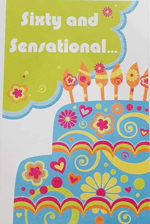 Amazon sixty and sensational happy 60th birthday greeting sixty and sensational happy 60th birthday greeting card 60 years old m4hsunfo