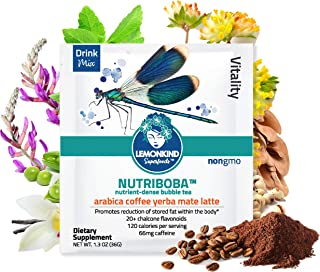 product image for Colombian Coffee Fat Burn Latte, Infused with Yerba Mate for Energy & Hunger Control, Made with Organic Plant-Based Ingredients & Gluten-Free, 10 Pack