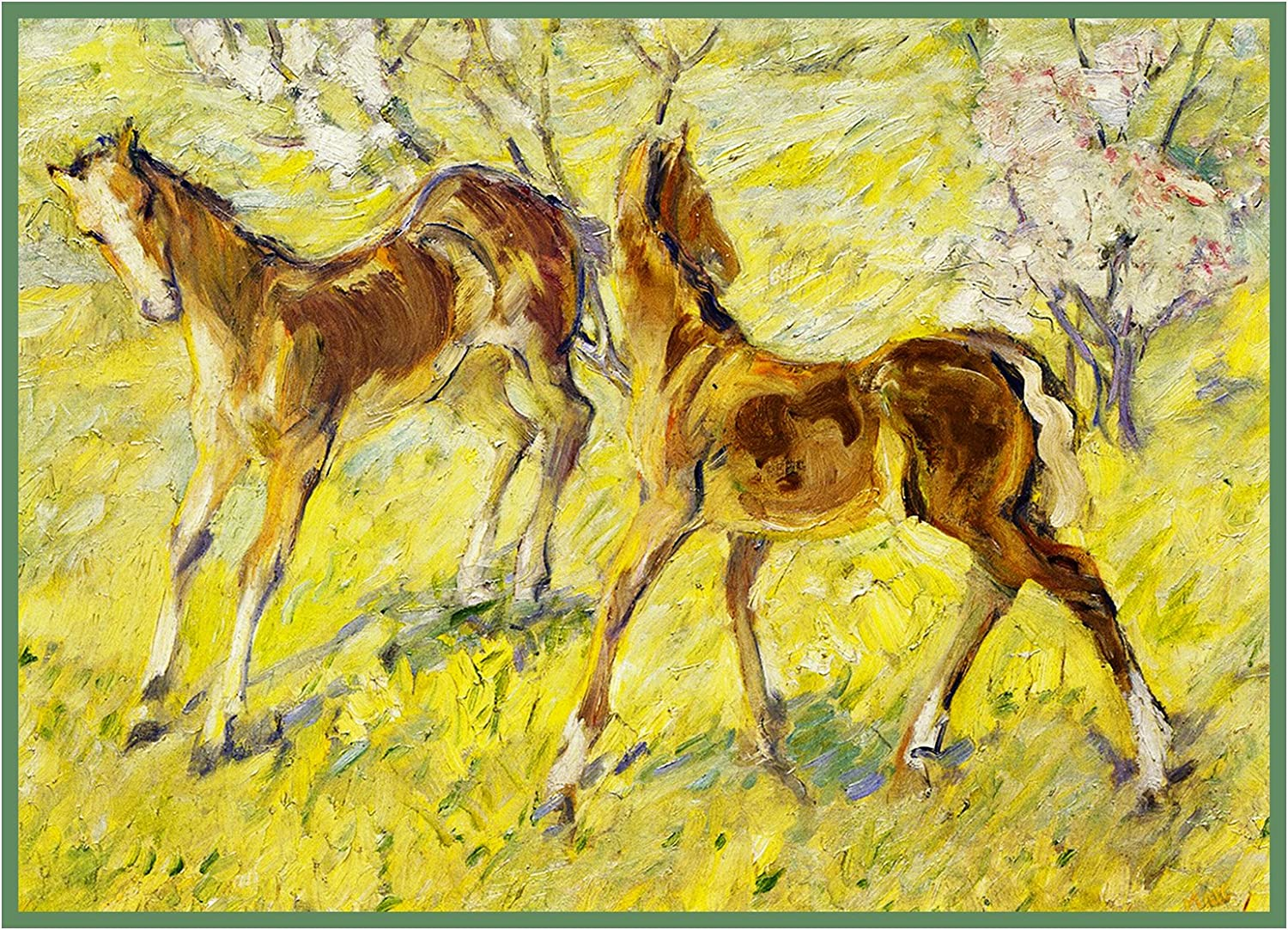 Orenco Originals 2 Horse Foals in Spring Franz Marc Counted Cross Stitch Pattern