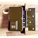 Yale 8DHP Cerradura de Sobreponer, 8. A Mano Derecha  Entrada 40 mm / Dcha Hierro Pintado