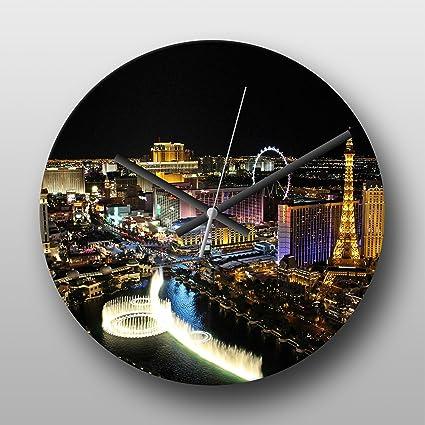 Reloj de pared Skyline Las Vegas Nevada USA No. tira 5 - mecanismo de cuarzo