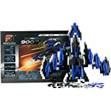 Pinblock Fusion Jet ''Blue'' - Creative Smart Building Set for Boys and Girls with 900 Interlocking and Rotating Blocks, 2-in-1 Manual Included