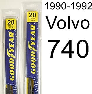 "product image for Volvo 740 (1990-1992) Wiper Blade Kit - Set Includes 20"" (Driver Side), 20"" (Passenger Side) (2 Blades Total)"