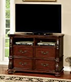 Furniture of America Caldara Traditional Media Chest, Brown Cherry