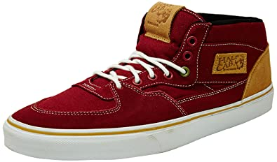 Vans Unisex Half Cab 10 Oz Canvas Brick Red Sneakers - 12 UK India (47 EU)   Buy Online at Low Prices in India - Amazon.in 6d0b796ac