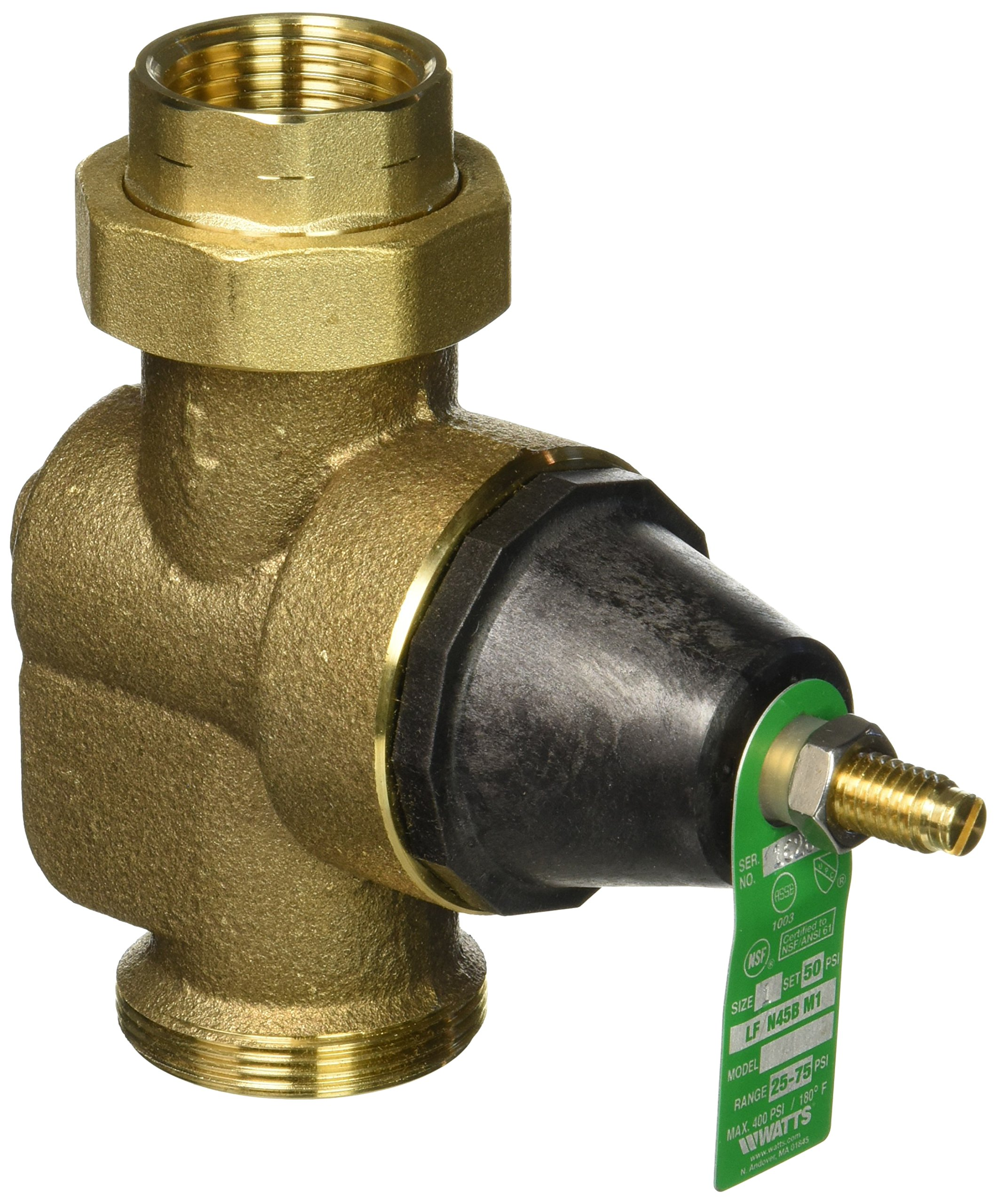 WATTS BRASS & TUBULAR 1 LFN45BM1-U 1'' Standard Capacity Lead Free Water Pressure Reducing Valve