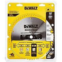 Dewalt DW3106 Series 20 60 Tooth ATB Thin Kerf Crosscutting Saw Blade with 5/8