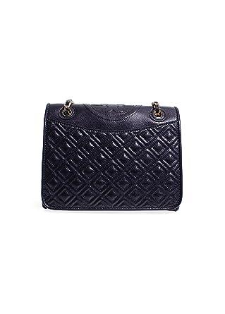 641b62526a3 Amazon.com  Tory Burch Fleming Patent Medium Bag in Tory Navy  Clothing