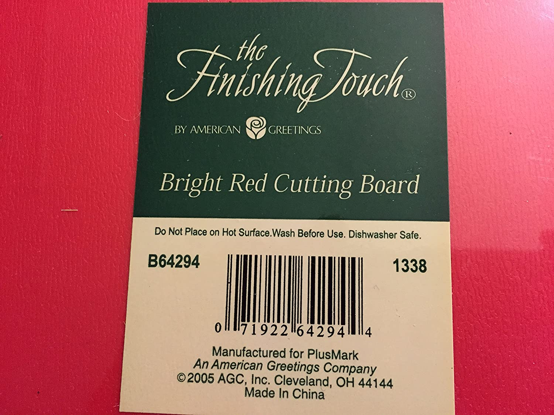 Amazon American Greetings 11 X 15 Bright Red Cutting Board